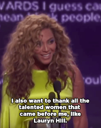 And when she stuck up for Lauryn Hill at the BET Awards after the boyband Mindless Behavior insulted Hill earlier: