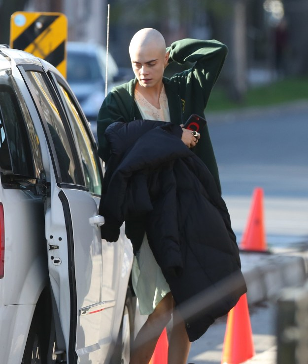 But now she's gone one step further, and shaved her head completely. And here's what she looks like now...