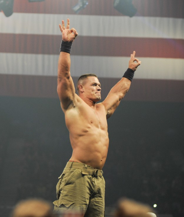 If you follow WWE even just a little bit, you're used to seeing John Cena like this.
