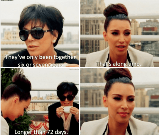 The time Kris literally sipped tea as she shaded Kim's short-lived marriage: