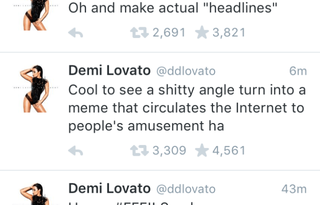 At the time Lovato tweeted her disapproval of Poot.