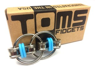 For serious fidgeters only, Tom's Fidgets can handle an impressive amount of pressure and grip. (Also silent for classroom fidgeters.)