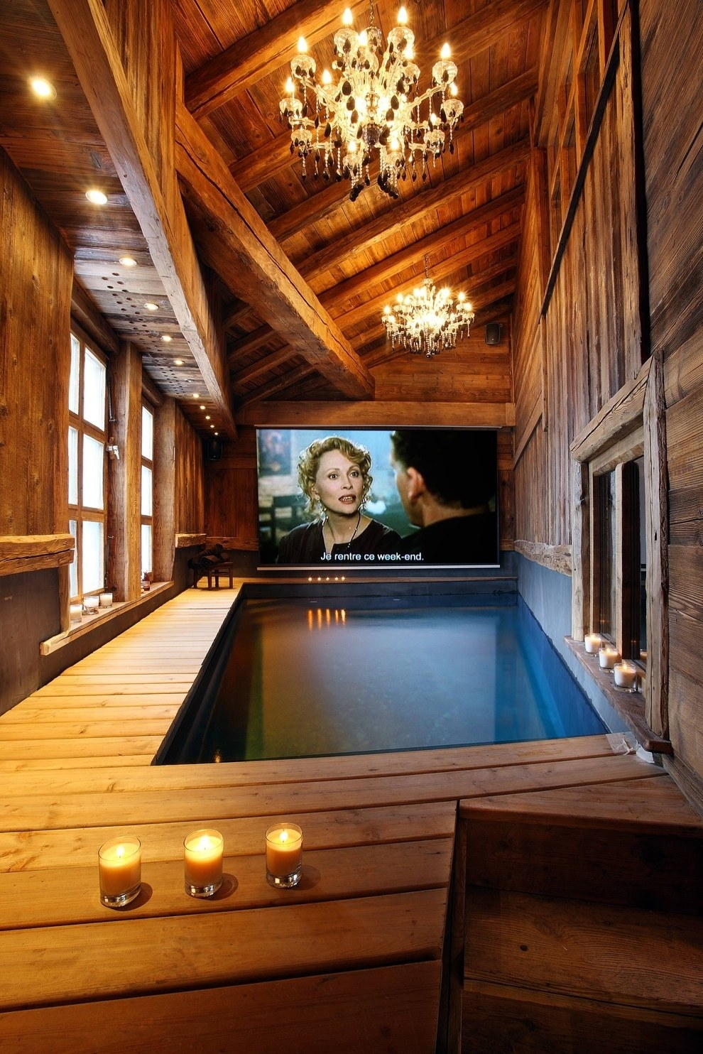 But YOU GUYS, I can watch Real Housewives in the pool! See more photos (and rent it!) on The Chalet Collection.