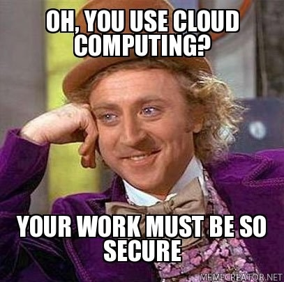 Secure Cloud Computing Meme