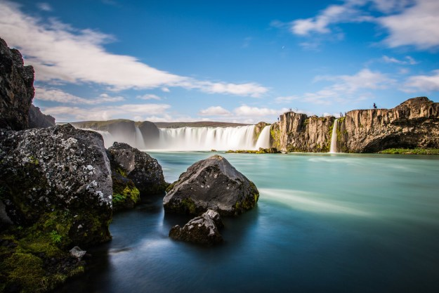 Witness the glory of Goðafoss, the God's Waterfall.