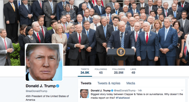 He changed it back to a tweet-less header on Tuesday morning, but there was plenty of time for the internet to memeify it.