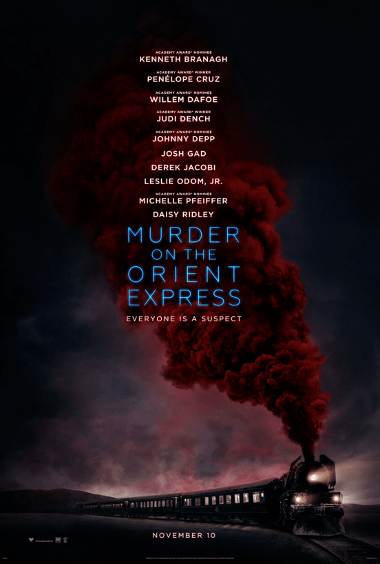 You've probably heard by now that Murder on the Orient Express, Agatha Christie's 1934 detective novel, has been adapted into a movie directed by Kenneth Branagh and starring...well, pretty much everyone in Hollywood.