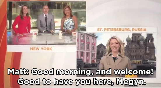 It was her first day as an NBC anchor, so Matt Lauer — being the kind person that he is — gave her a nice welcome.