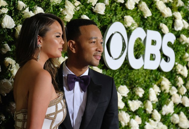 Chrissy Teigen and John Legend were in attendance because of John's nomination for co-producing the Broadway revival of Jitney.