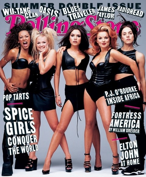 The Spice Girls were one of the biggest acts in the world and appeared on their iconic Rolling Stone cover.