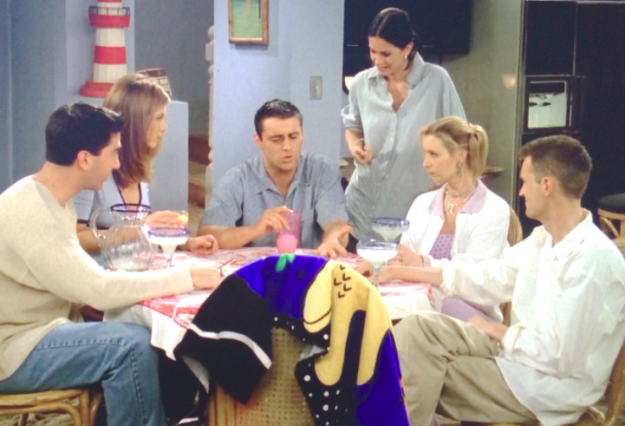 "Friends wrapped up its third season with ""The One at the Beach."""