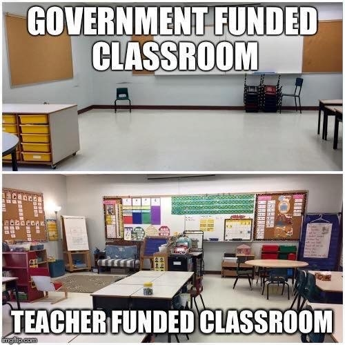 And they end up having to spend what they do earn on things that the school should really supply.