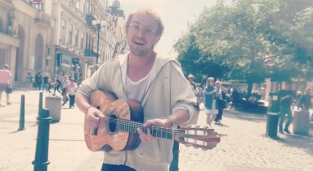 "Let's dive in a little bit closer. So here's Tom Felton looking a little bit more like the dude at your college who plays ""The General"" by Dispatch on guitar to try to impress you and a little bit less like Draco Malfoy..."
