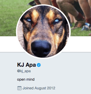 But you probably don't know that KJ Apa has the Purest Twitter Account Ever. It's so sweet and good.