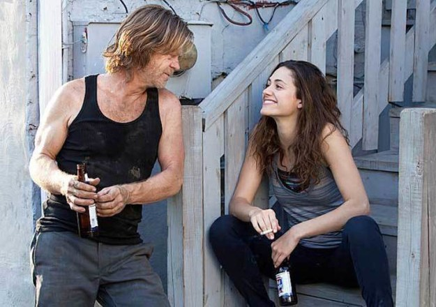 Rossum stars as Fiona Gallagher in the Chicago-set show. William H. Macy plays her alcoholic dad Frank Gallagher.