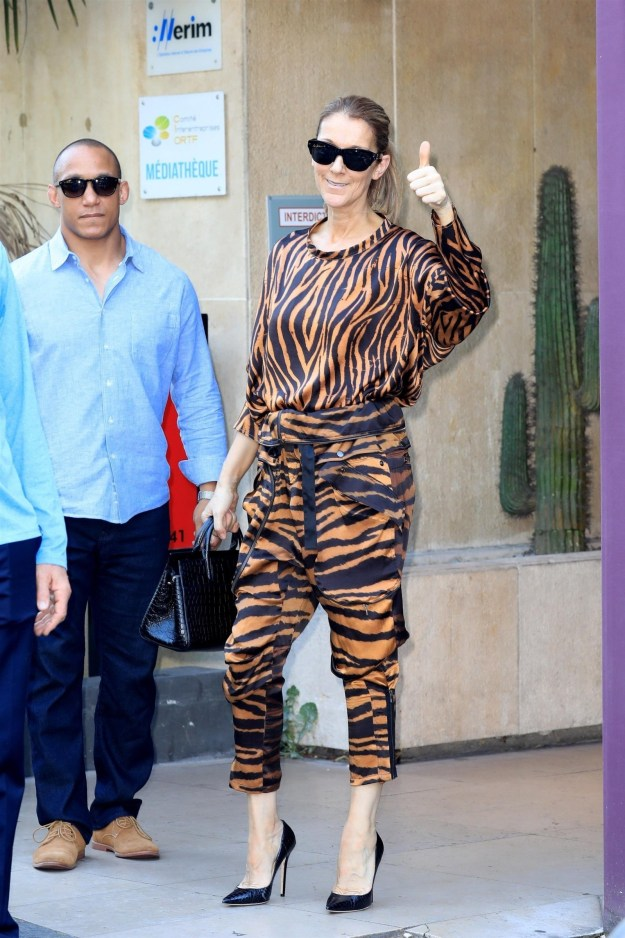 The iconic, global, multi-generational legend that is Celine Dion was spotted in Paris on Monday and she looked gr-r-reat!