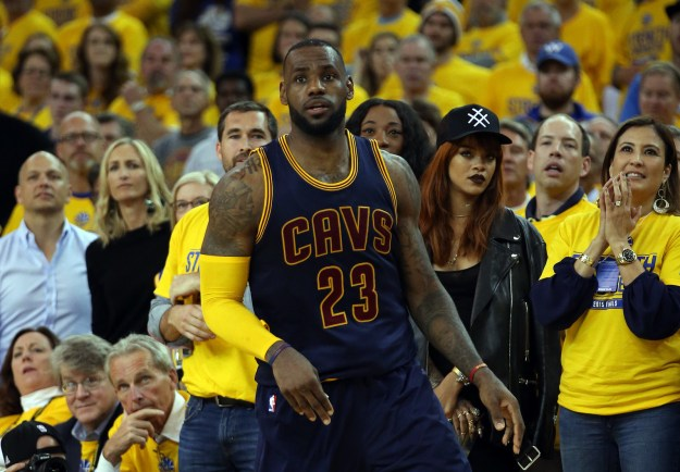 In case you didn't know, pop megastar Rihanna is a HUGE LeBron James fan, so she's by nature a Cavs supporter.