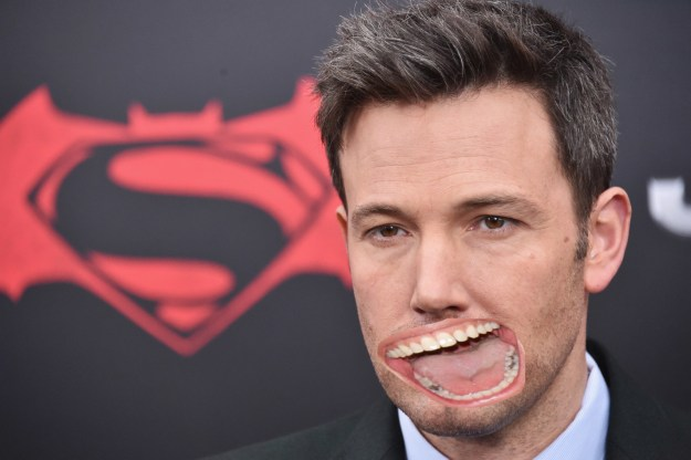 Ben Affleck with Julia Roberts' mouth!