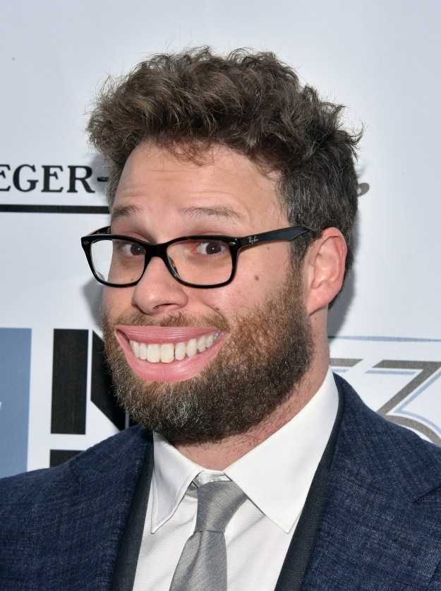 Seth Rogen with Julia Roberts' mouth!