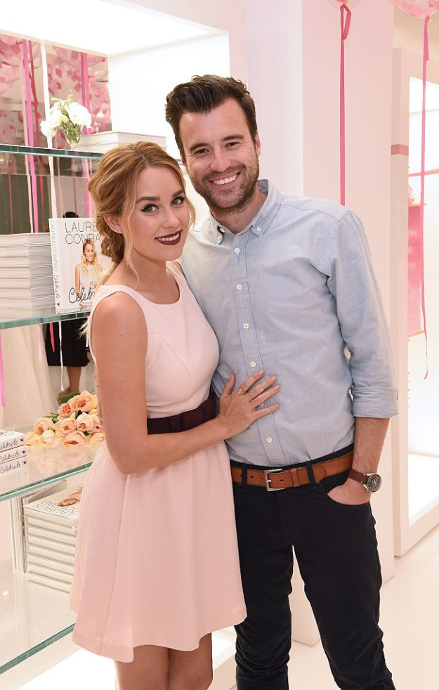 This is Lauren Conrad and her husband, William Tell, they're both very good looking and a very cute married couple.