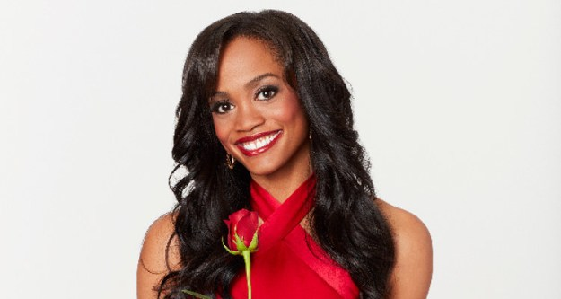 This is Rachel Lindsay. She's the current Bachelorette on The Bachelorette.