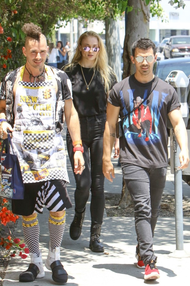 Joe Jonas, Sophie Turner, and DNCE's Cole Whittle were out in Los Angeles when they we spotted by the pesky paparazzi.