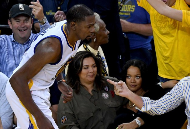 When Rihanna and Kevin Durant beefed during game 1 of the finals.