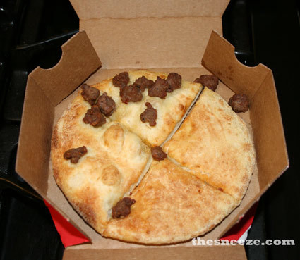While Steven may have ordered this pizza as a joke, these Domino's employees took their jobs seriously, and in 25 minutes this was delivered to Steven's door.