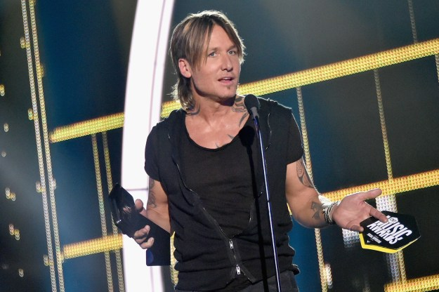 "So, Keith Urban totally killed it at the CMT Music Awards, taking home four big awards including Video of the Year for ""Blue Ain't Your Color."""