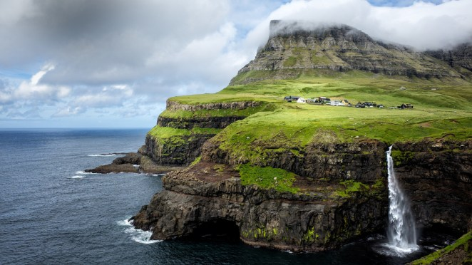 Trying to get away from it all? Look no further than this remote village on the Faroe Islands. Gasadalur, with its population of just over a dozen, is nestled between rolling fields and soaring mountains. It might just be the most isolated place on earth.