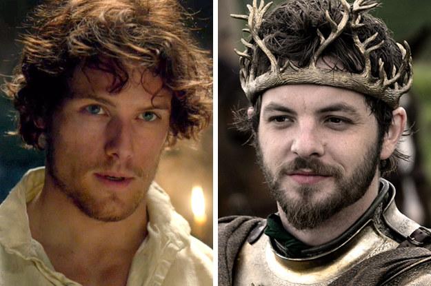 Sam Heughan as hot king Renly Baratheon.