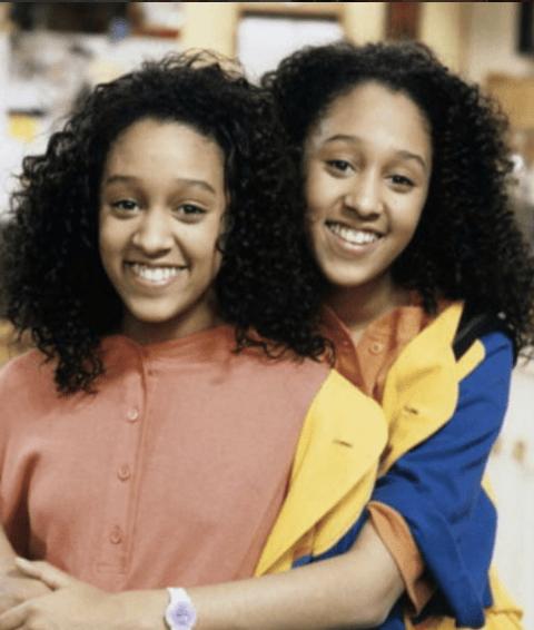 Twin sisters Tia and Tamera Mowry of Sister, Sister...