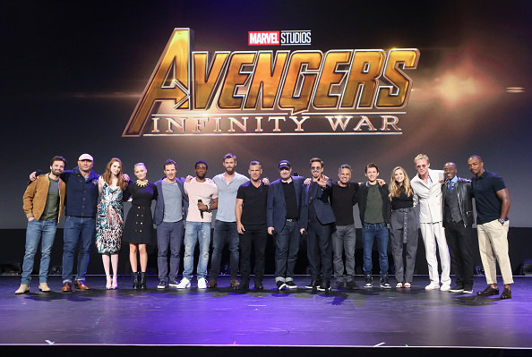 Not to be outdone by Animation bringing out all the living voices of Disney Princesses for Wreck-It Ralph 2, the Disney Live Action Film Panel at Disney's D23 Expo ended with Marvel Studios Chief Kevin Feige bringing out almost every Marvel superhero (which encompasses like half of Hollywood), plus co-director Joe Russo, out to premiere a teaser trailer for Avengers: Infinity War.