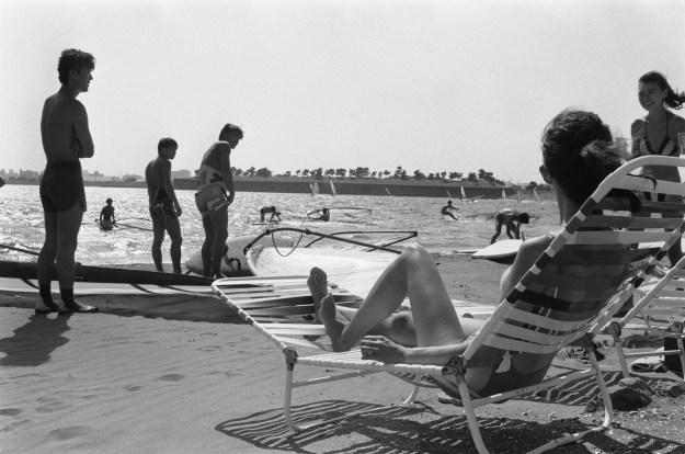 1987年、東京・お台場海浜公園。