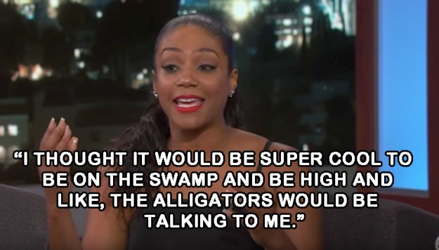 On why she decided to smoke before her boat tour with Will and Jada:
