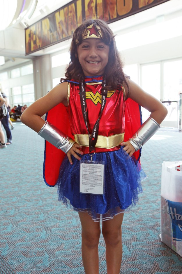 And now that young girls have a new female role model to look up to, many of them came to San Diego Comic-Con dressed as the superhero.
