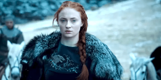 """But Clapton also said that in Season 7 she'd be exploring Sansa finally coming into her own. """"Slowly, she's becoming slightly more her own woman rather than always being influenced by those around her. She's finally finding herself."""""""