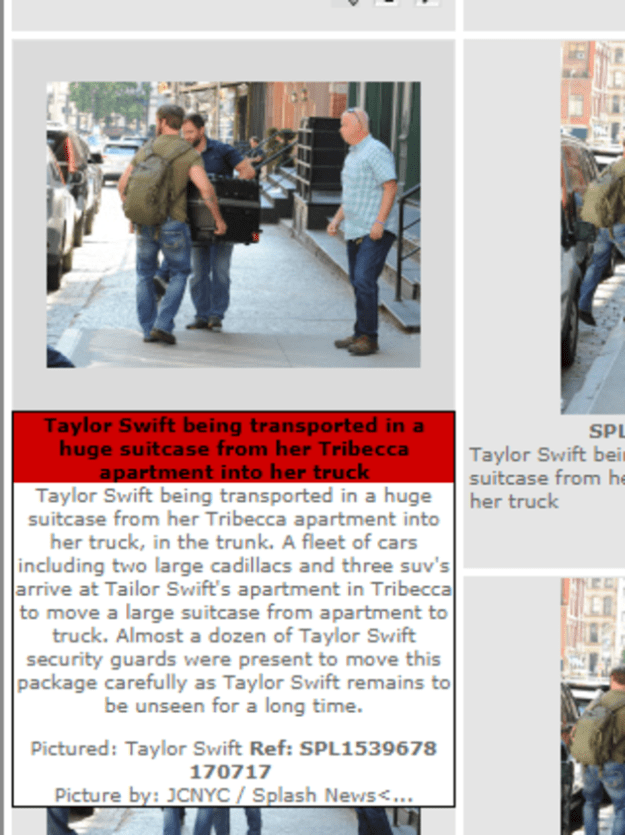 Remember when Taylor Swift was absolutely, without a doubt, most definitely hiding in a giant suitcase to avoid paparazzi?