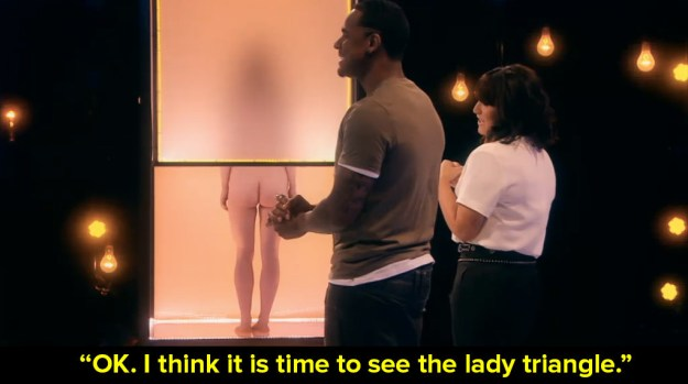 No, the weirdest thing about this show is what is being said as we look at everyone's genitals. Like this: