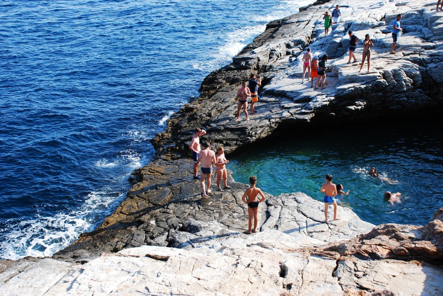 Set in the quiet village of Astris, Giola is a swimming pool carved into terraced rocks. It's a bit of a trek to reach, but one dip in the shimmering water overlooking the sea makes it all worthwhile.