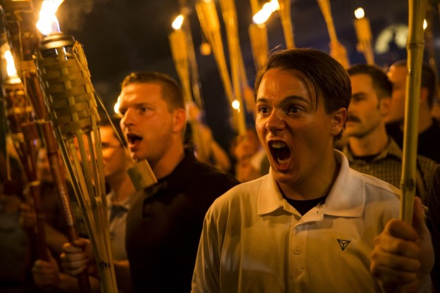 On Friday night, hundreds of torch-wielding white nationalists marched on the University of Virginia's campus in Charlottesville.