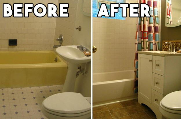 Or you spruced up your bathroom with a complete redesign.