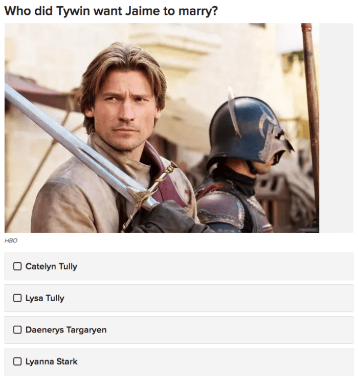 Game Of Thrones Character Name Quiz Buzzfeed | Wajigame co