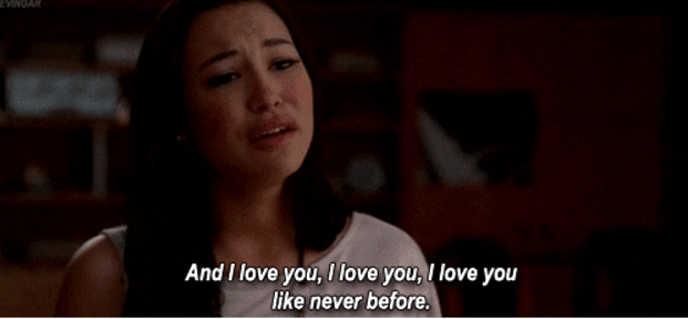 "Like, remember when Santana sang ""Songbird"" to Brittany on Glee?"