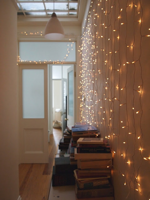 with string lights