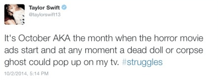 That time she exposed the month of October.