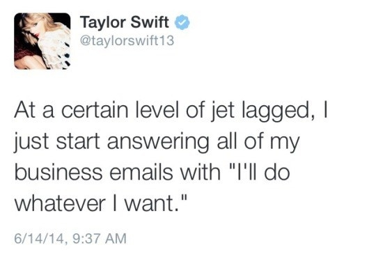 That time she was jet-lagged.