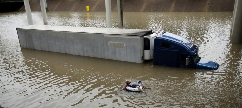 Aug. 27, near downtown Houston.