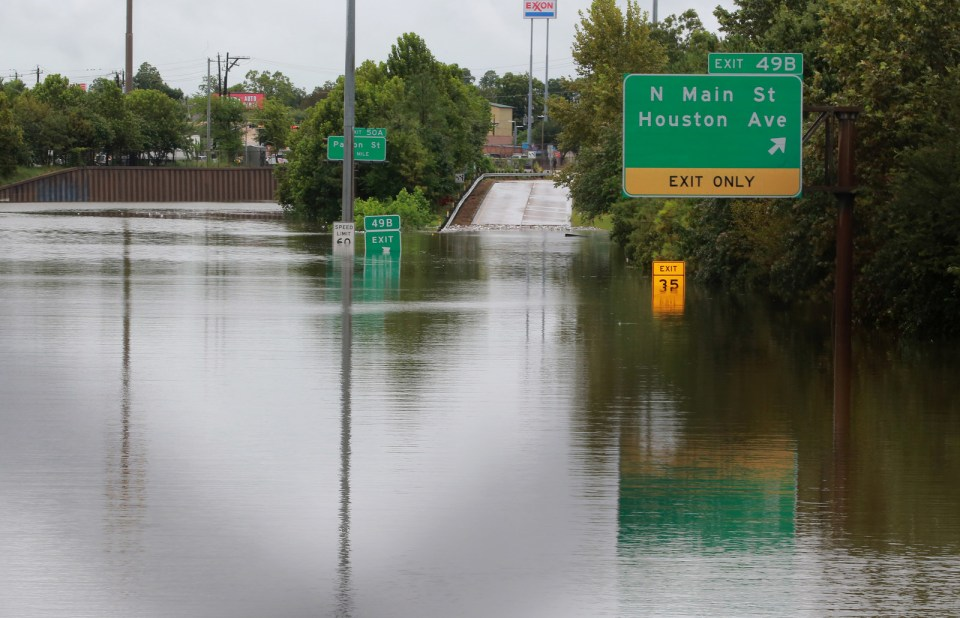 Interstate Highway 45 in Houston, Aug. 27.