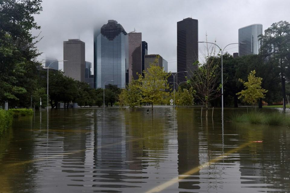 Buffalo Bayou Park in Houston, Aug. 27.